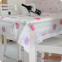 出口 塑料防滑桌布 环保餐布 茶几台布 方圆桌布 18元/条