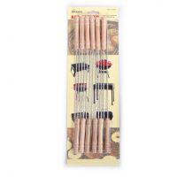 厂家直销 翔游 烧烤签 烧烤工具 肉串签 铁签 烧烤针12支装