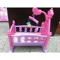 外贸尾单 Rocking crsdle娃娃婴儿床 女孩过家家玩具 精致的小床