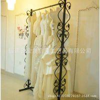 服装店衣架展示架服装店装修货架双层服装展示落地婚纱展示架创意