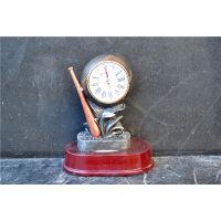 欧式座钟 树脂工艺品 家居装饰摆件创意棒球个性钟表0129