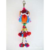 创意包包挂件可爱猫头鹰包包挂饰/挂件饰品 车钥匙扣 民族风包链