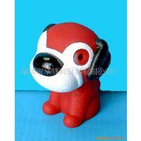 环保搪胶 卡通小狗 发光电子玩具塑料配件 儿童礼品 婴儿床上用品