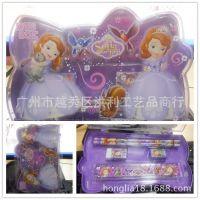 新款索菲亚小公主塑料礼盒文具套装 sofia公主文具盒组合 6in1