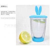热销 时尚防漏塑胶杯 创意便携透明水杯 礼品杯子 批发优惠
