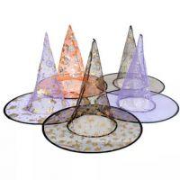万圣节巫婆帽子 女巫魔法帽子 万圣节鬼节用品 化妆舞会道具