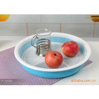 康丰供应塑料果蔬篮、果蔬筛、圆形双层滴水盘 广告促销