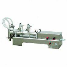 大豆油手动定量双头液体充填机,蛋白质液体双头液体灌装机,护发产品双头液体灌装机