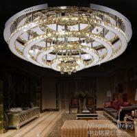 供应现代简约LED圆形不锈钢水晶灯LED客厅吸顶灯餐厅灯饰卧室灯 铭星