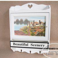 木质欧式手绘田园风 墙壁装饰箱遮挡箱 电表箱 配电箱 壁挂 壁饰