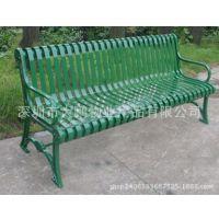 优惠价批发金属长条休闲座椅 钢管喷塑靠背椅 户外休闲长椅