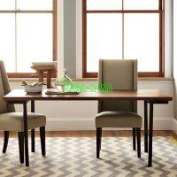 美式乡村LOFT风格铁艺实木家具做旧餐桌椅复古长方形饭桌 可定做