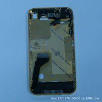 供应苹果手机4代内配件 Iphone4中框加中板(黑色)