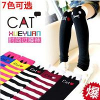012韩国小猫中高长筒儿童袜套 2014爆款宝宝堆堆袜过膝儿童袜子
