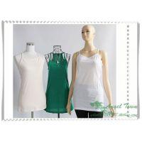 2014年品牌女装新款 纯棉净色休闲工字吊带衫 修身打底衫