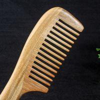 老翁 绿檀木梳保健美发有益健康防静电原色无蜡绿檀梳子厂家批发
