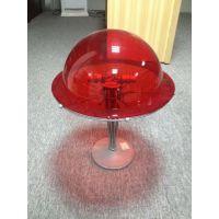海景别墅墙面装饰红色透明亚克力半圆球 透光彩色灯罩