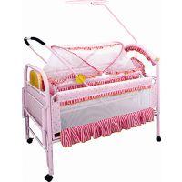 贺联228A婴儿床带蚊账轮子铁床 大小双床童床批发