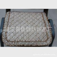 【厂家直销】精美网格花边简约椅子垫  防滑椅子垫布艺绗缝坐垫