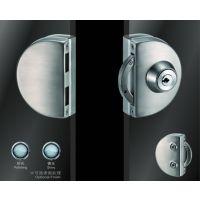 供应酒店,物业,学校房间玻璃门锁 不锈钢双边单开半圆型 超b级锁芯JU-W508 玻璃门锁