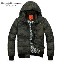 正品马克华菲外套 冬装新款 男装军旅迷彩短款羽绒服现货清仓批发