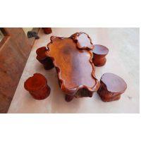 越南红木根雕茶台 花梨木茶几茶台实木雕刻