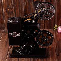 老式放映机 做旧铁皮摆件 拍照道具 装饰陈列道具 电影放映机模型