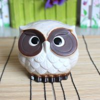 新款创意家居装饰 日本原单陶瓷猫头鹰摆设  家居装饰品0719