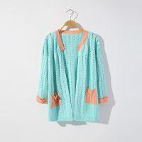 新款秋装时尚百搭宽松潮流拼接镂空针织衫 S183