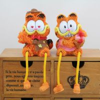 新款加菲猫吊脚娃娃 创意家居儿童房摆设 树脂工艺品摆件 4款