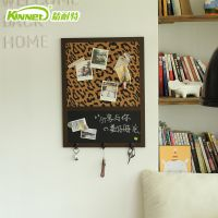 精耐特 创意挂钩性感豹纹留言板 家居软装 照片装饰磁性黑板