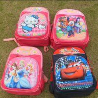 HELLOKITTY迪士尼卡通汽车总动员三D大容量书包 男童女童背包