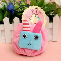 新款宝宝儿童袖套批发 宝宝袖护袖手袖天鹅绒方块兔防污短款袖套