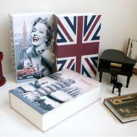 创意彩色英文/英语词典字典保险箱盒/装饰书/迷你书本存钱罐