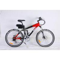 厂家直销 100%出口欧美铝合金锂电池山地款电动自行车 质量保证