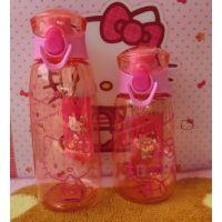 卡通hello kitty塑料杯水杯儿童吸管杯太空杯 水瓶可爱便携水壶