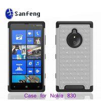 2014***热销款手机壳 Nokia n830三合一镶钻手机套 防震防摔保护套