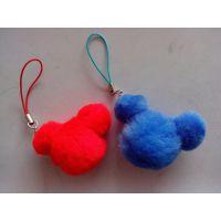 厂价直销米奇毛绒手机挂件 米老鼠手机挂件 毛球挂件