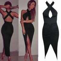 现货!!Ebay 速卖通爆款 黑色性感夜店女装 单件套连衣裙 ZC1510