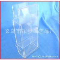 义乌透明有机玻璃相框 电子元件产品展示盒 亚克力钱包展示架厂家