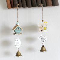 zakka杂货 小木屋风铃 木质风铃挂件 创意挂件装饰 木质工艺品