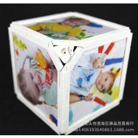 塑料魔方小积木旋转组合相架拼装创意儿童相框卡通摆台摆件可批发
