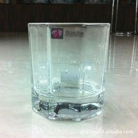 供应丽尊八角玻璃杯/透明果汁杯/奶茶杯/水杯