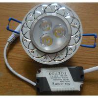 海富批量供应LED 3W天花灯 LED带花纹天花灯 LED新款天花灯