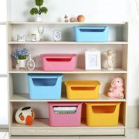 批发大小号多色塑料杂物整理箱 优质摔不破带盖书籍玩具收纳盒