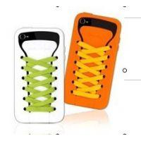 供应鞋带手机外壳 iphone4 4s鞋子保护套苹果手机套 软硅胶套外壳