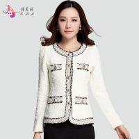 2014秋季新款小西装 女短款修身韩版小香风气质显瘦西服外套