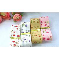 25mm双面缎带丝带印刷 发饰蝴蝶结材料 diy手工织带印花印刷