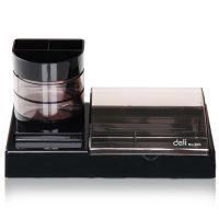 得力(Deli)903多功能实用型组合办公盒-带笔筒 经典黑色