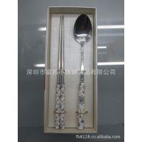 韩式餐具勺筷套装,骨瓷勺子筷子